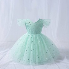 Toddler Girls Galaxy Tie Back Tulle Party Dress