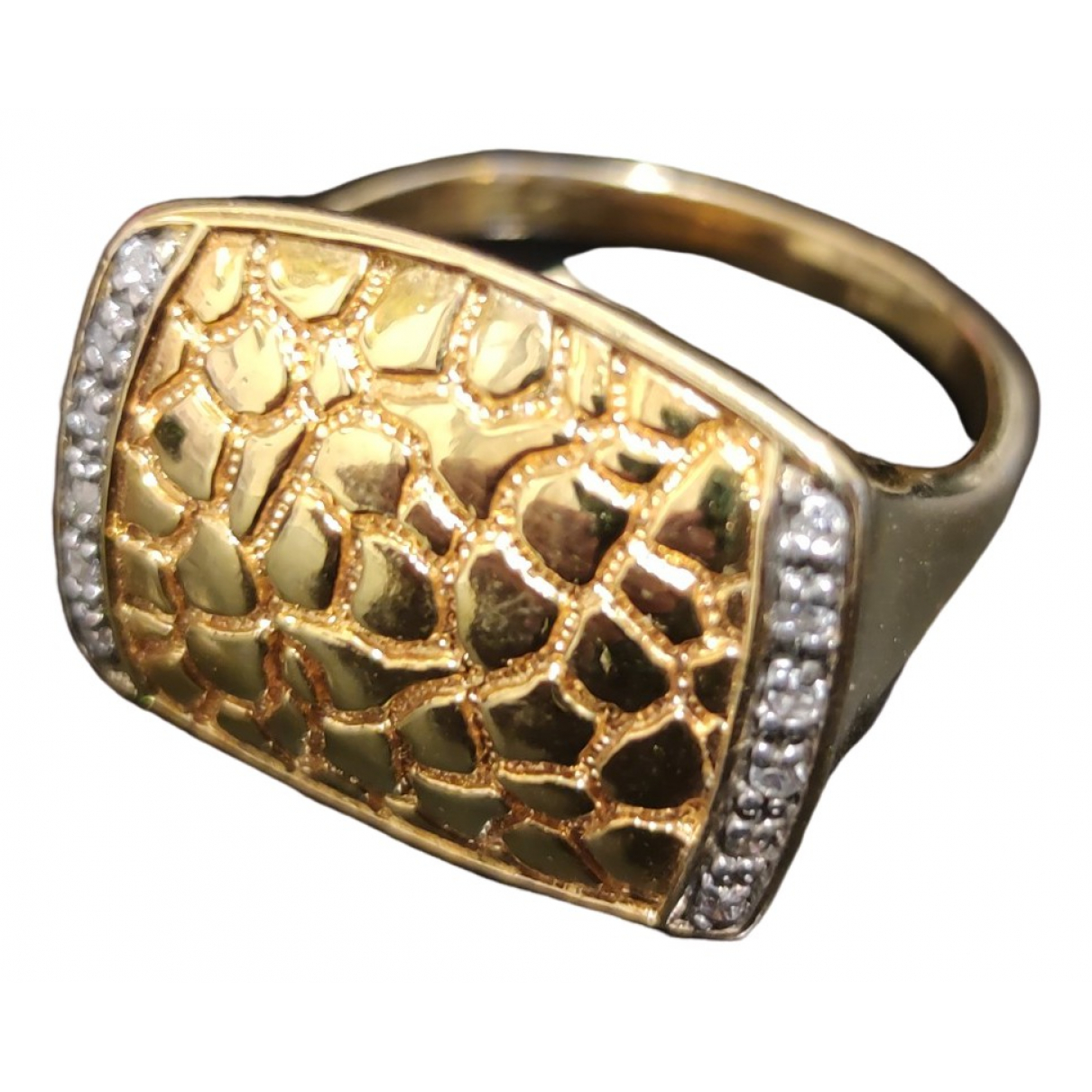 Non Signé / Unsigned \N Gold Silver ring for Women 62 MM