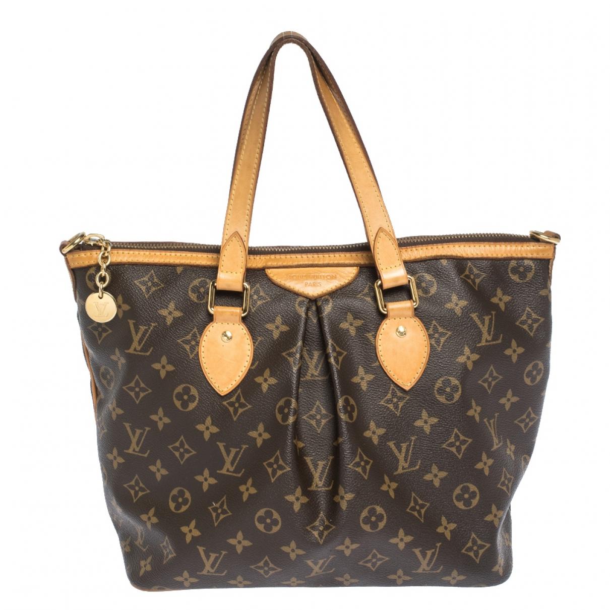 Louis Vuitton - Sac a main Palermo pour femme en cuir - marron