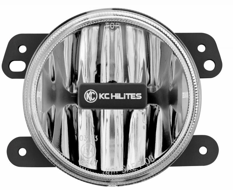 KC HiLiTES Gravity LED G4 2010-2018 Jeep JK LED Fog Clear Single - #1497 Jeep Wrangler