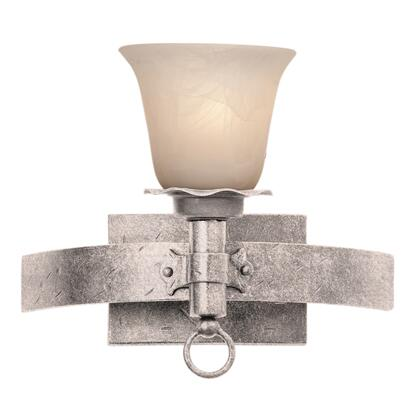 Americana 4201PS/PS15 1-Light Bath in Pearl Silver with Penshell Natural Option 15 Glass