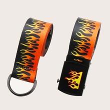 2pcs Flame Pattern Belt