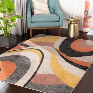 Kaiden Multicolor Mid-Century Area Rug - 710 x 103 (710 x 103 - Multi-Color)