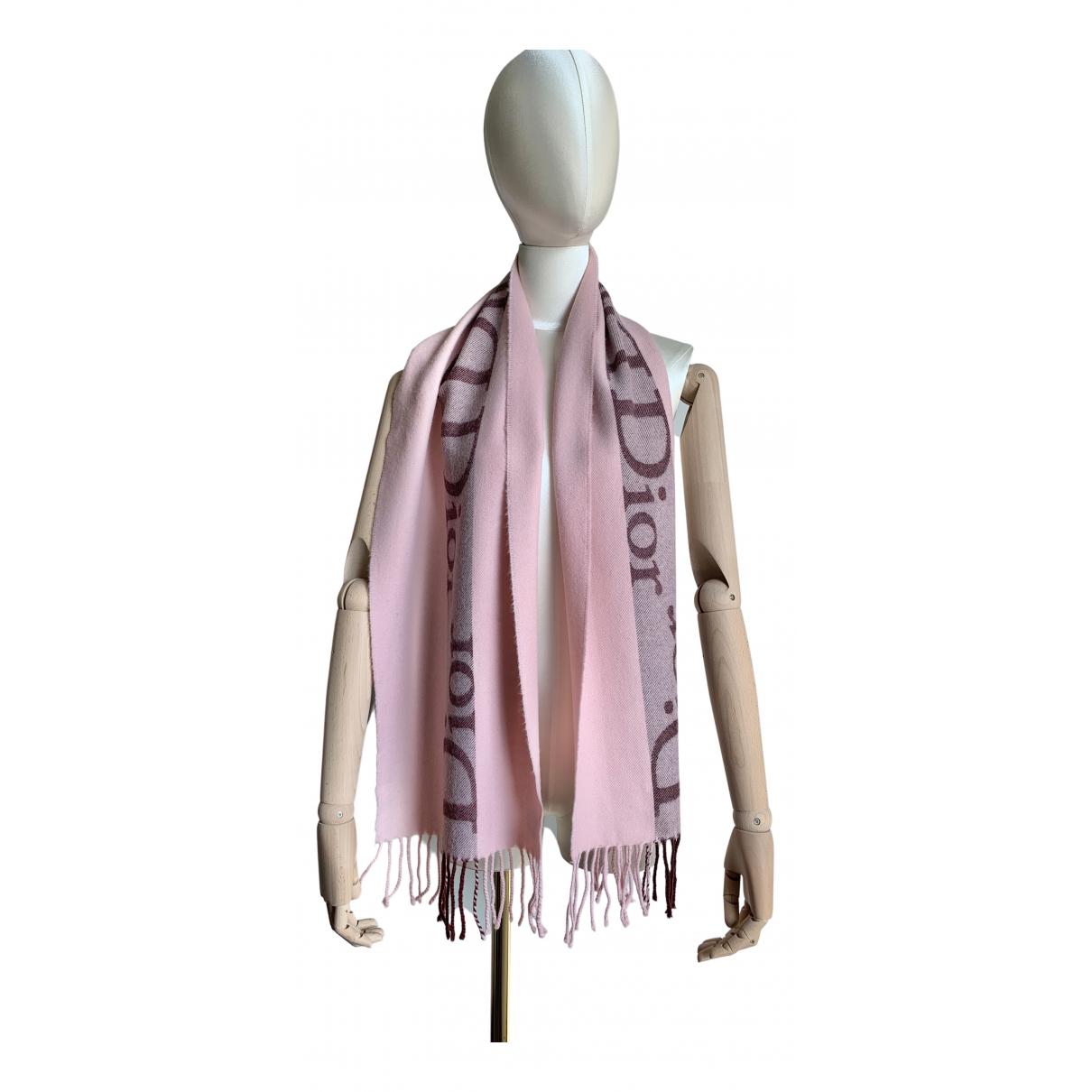 Dior N Pink Wool scarf for Women N