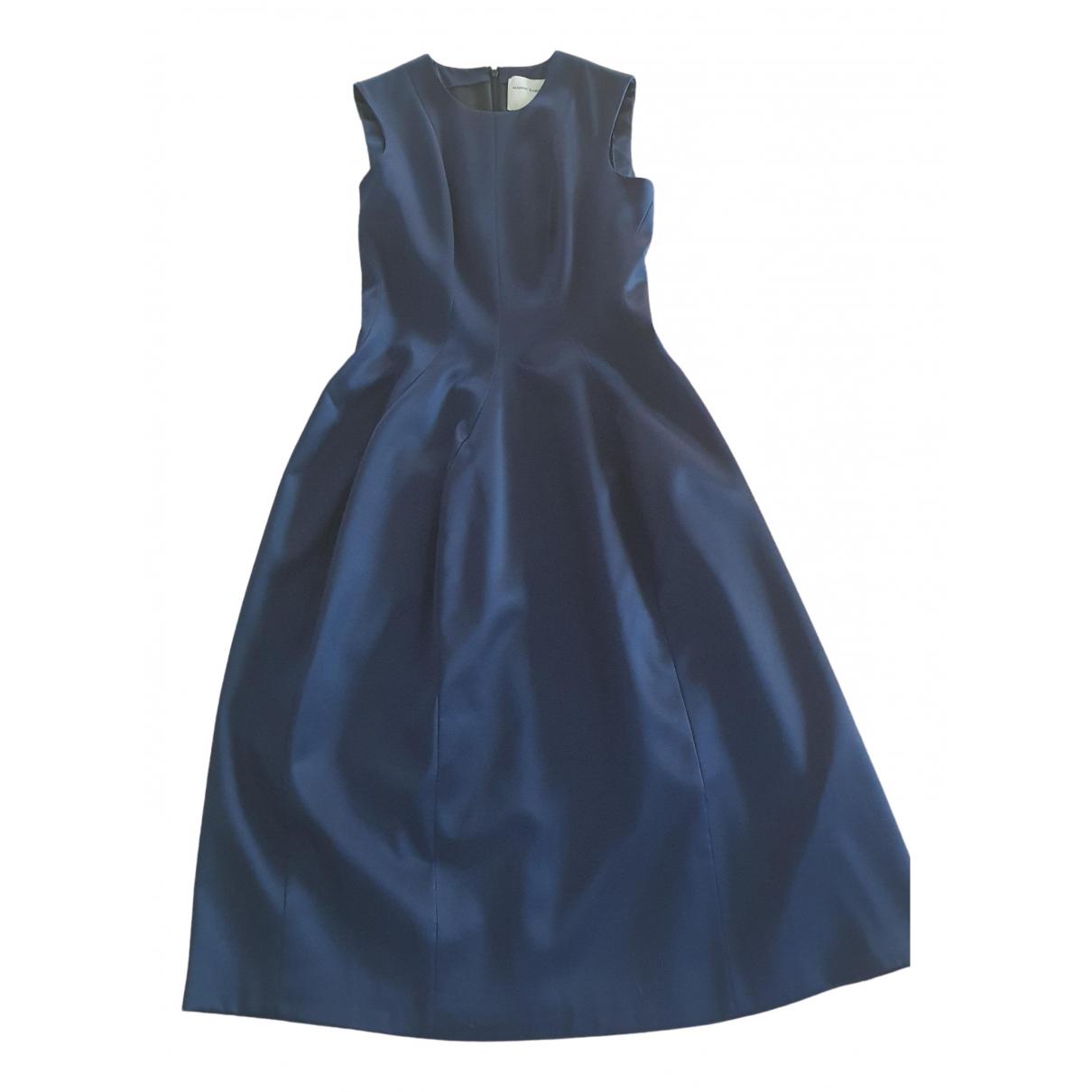 Maison Rabih Kayrouz \N Blue Silk dress for Women 38 FR