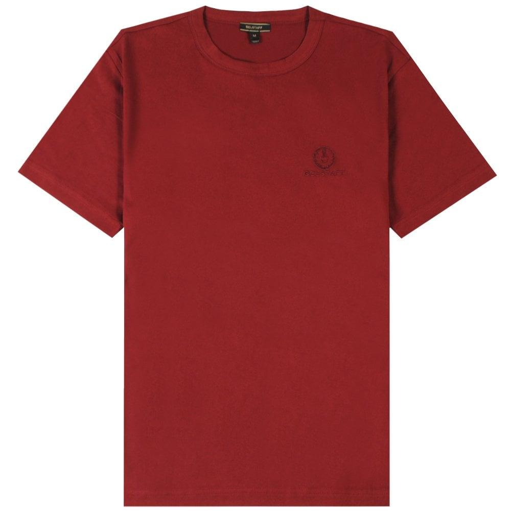 Belstaff Short Sleeve Logo T-Shirt Colour: RED, Size: EXTRA LARGE