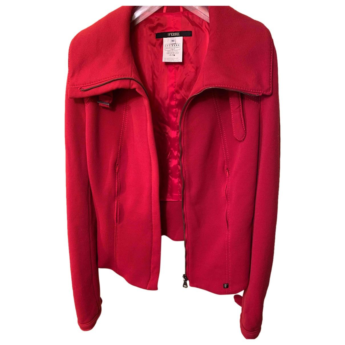 Gianfranco Ferre \N Jacke in  Rot Polyester