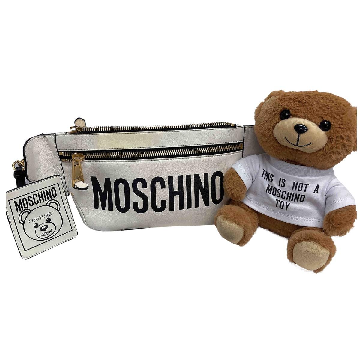 Moschino - Sac a main   pour femme en cuir - blanc