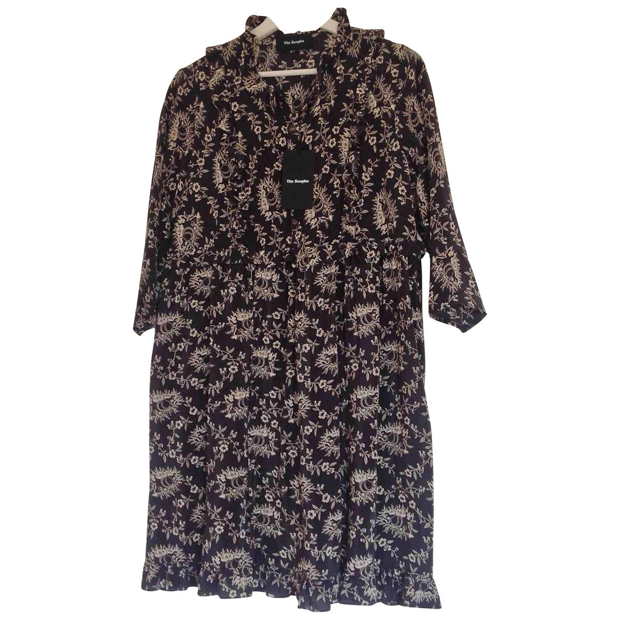 The Kooples - Robe Fall Winter 2019 pour femme en soie - noir