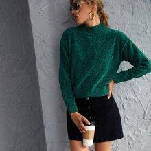 Pullover mit Space Dye und Stehkragen