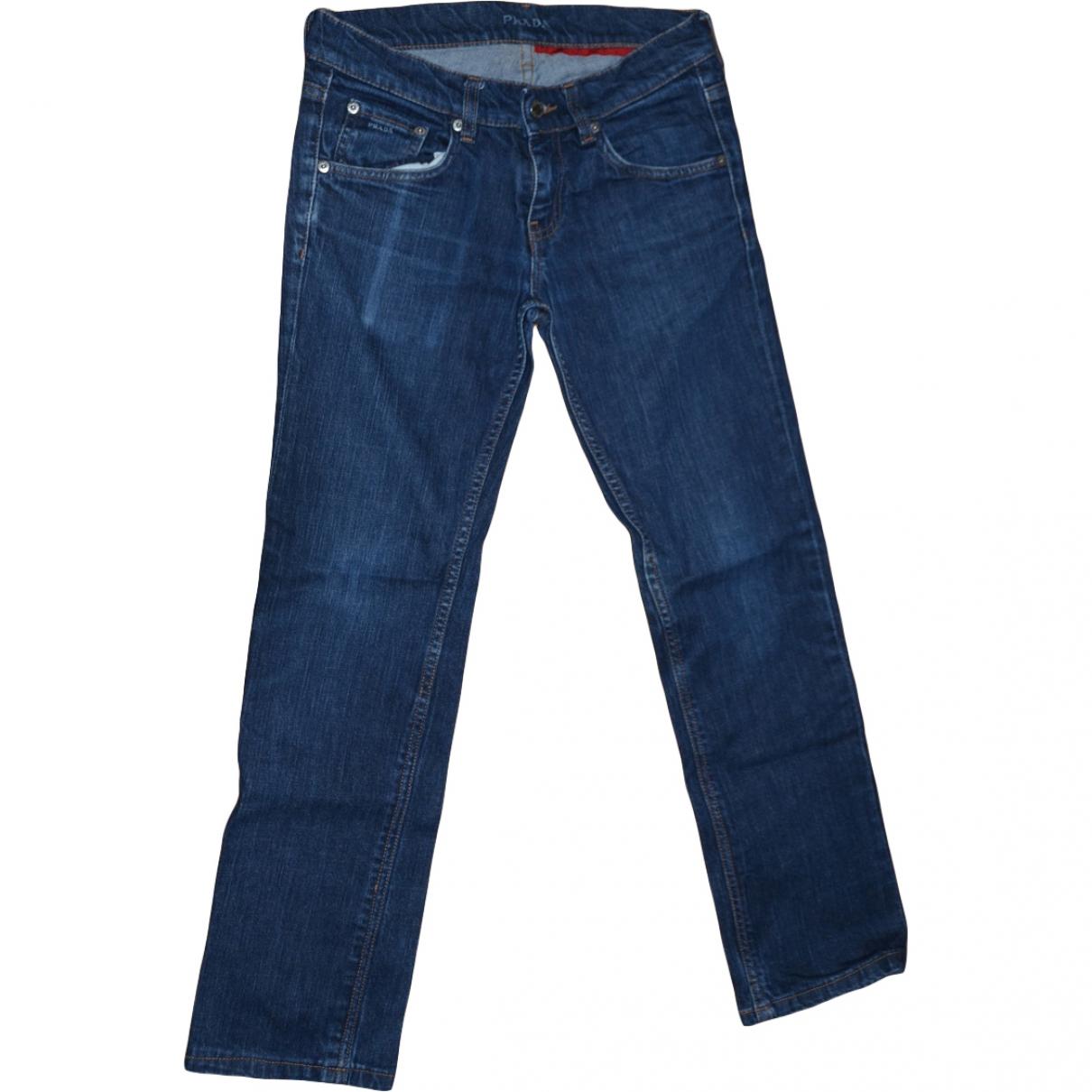 Prada \N Blue Cotton - elasthane Jeans for Women 26 US