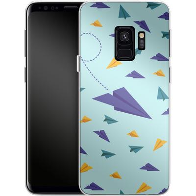 Samsung Galaxy S9 Silikon Handyhuelle - Paper Planes von caseable Designs