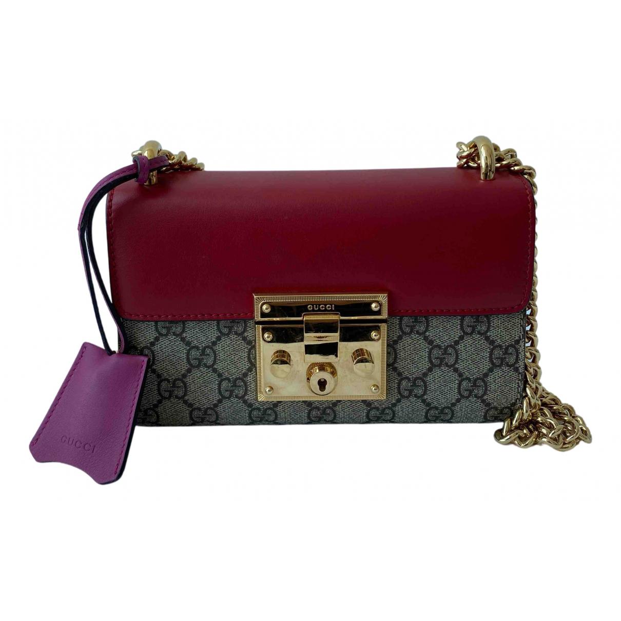 Gucci Padlock Red Leather handbag for Women N
