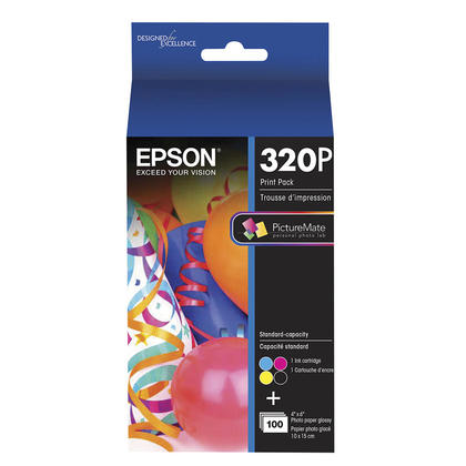 Epson T320P Original Ink and Paper Print Pack for PictureMate 400 Series