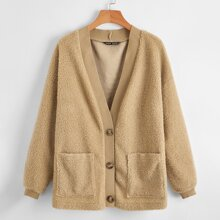 Teddy Button Front Coat