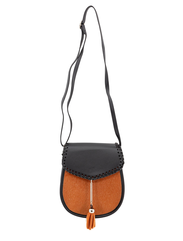 Kostuemzubehor Tasche schwarz/braun mit Quasten