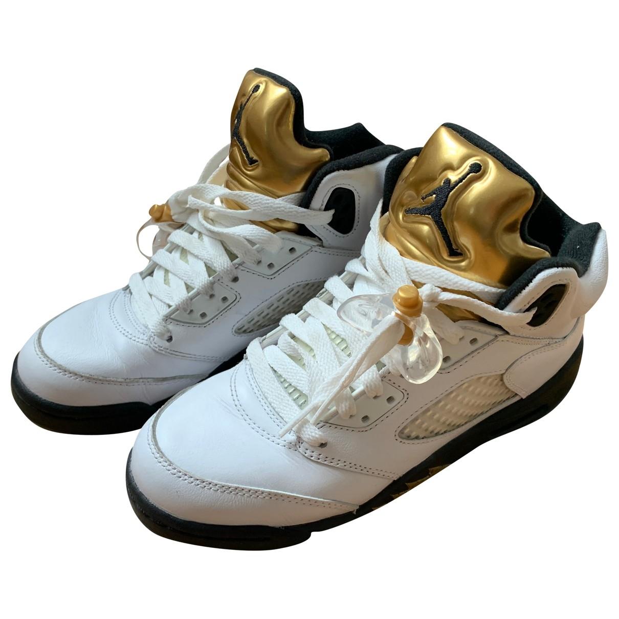 Deportivas Air Jordan 5 de Cuero Jordan
