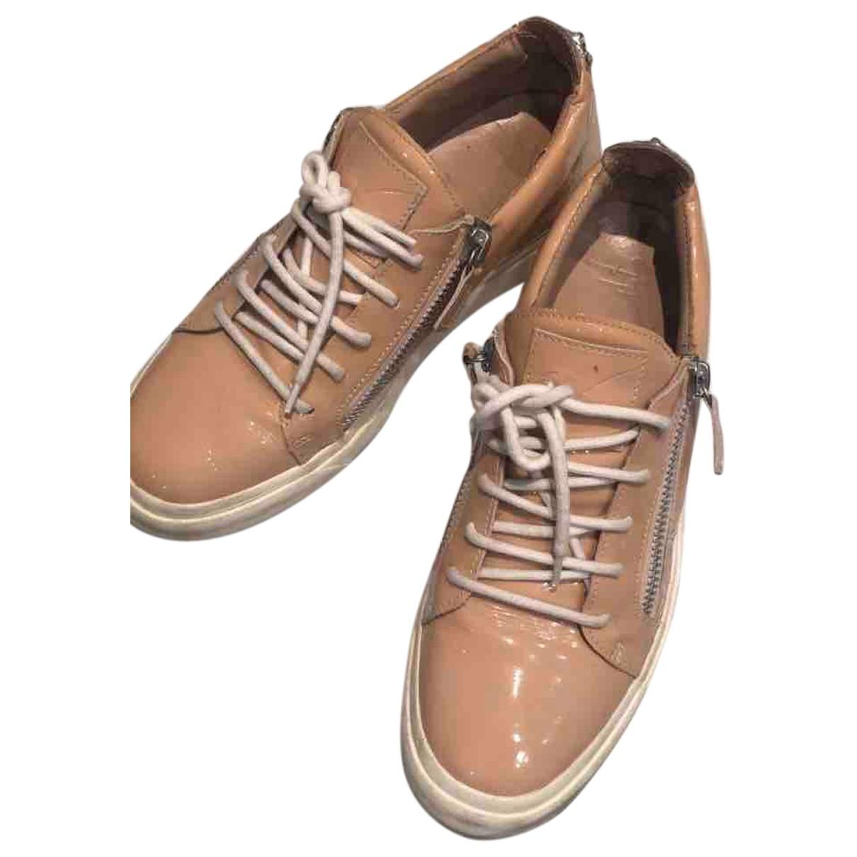 Giuseppe Zanotti Nicki Pink Patent leather Trainers for Women 40 EU