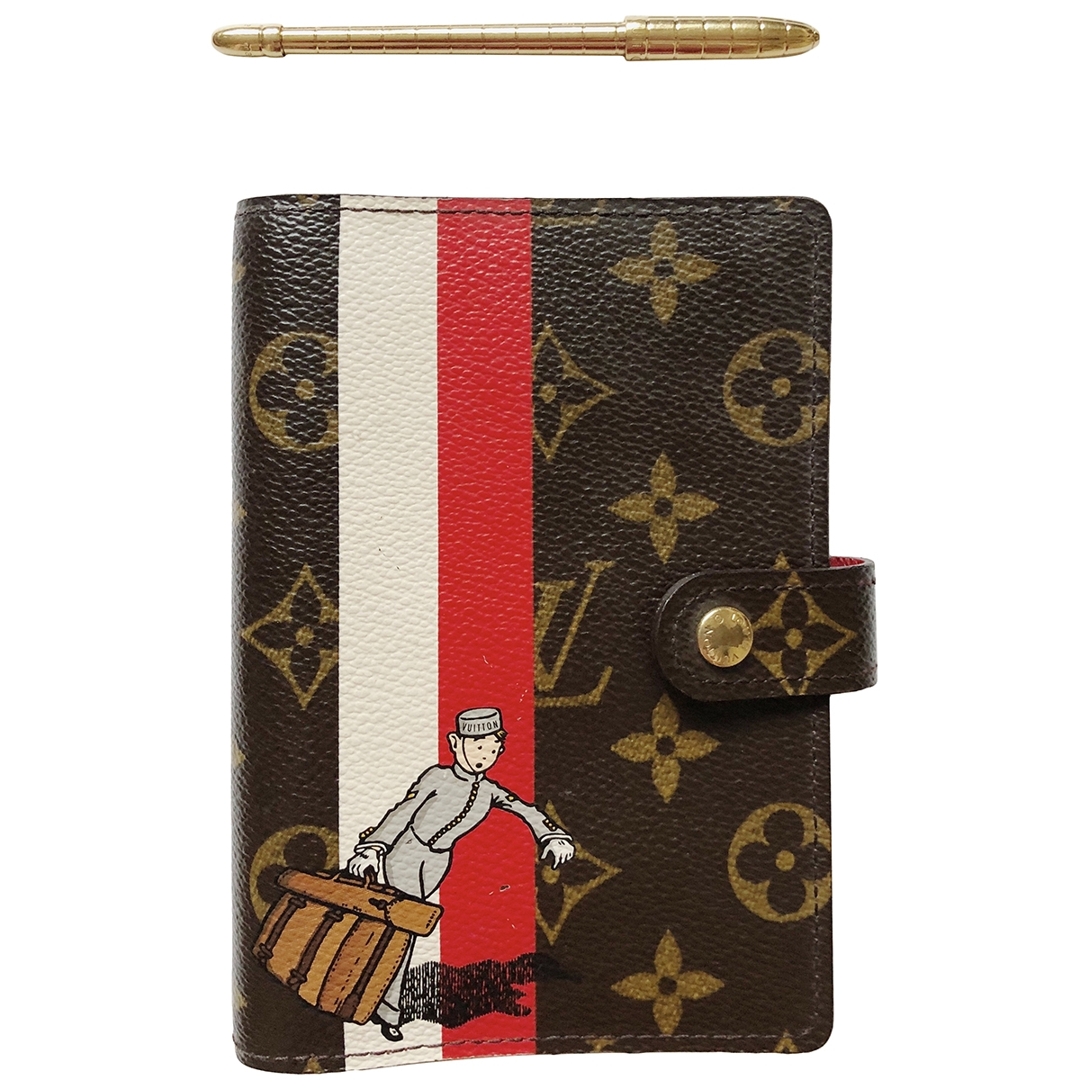 Louis Vuitton Couverture d'agenda PM Brown Cloth Home decor for Life & Living \N
