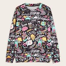 Men Allover Print Sweatshirt