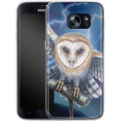 Samsung Galaxy S7 Silikon Handyhuelle - Heart of The Storm von Lisa Parker