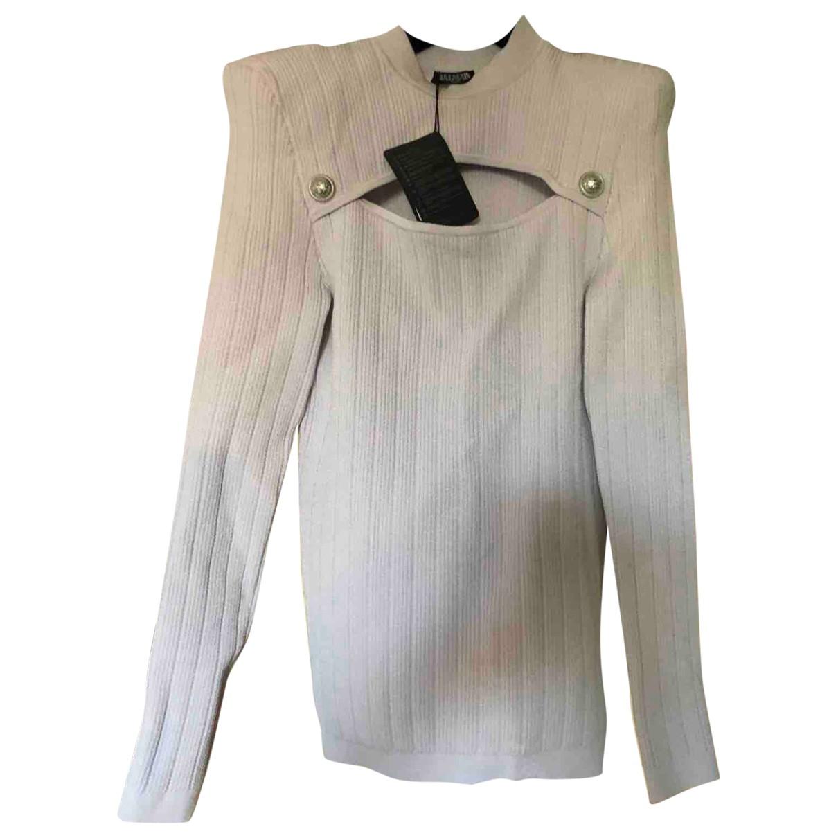 Balmain \N Pullover in  Lila Viskose