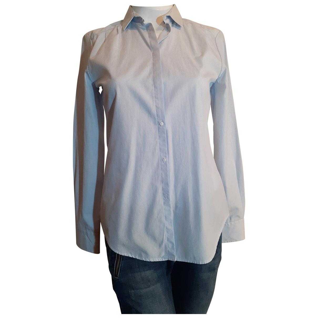 Uterque - Top   pour femme en coton - bleu