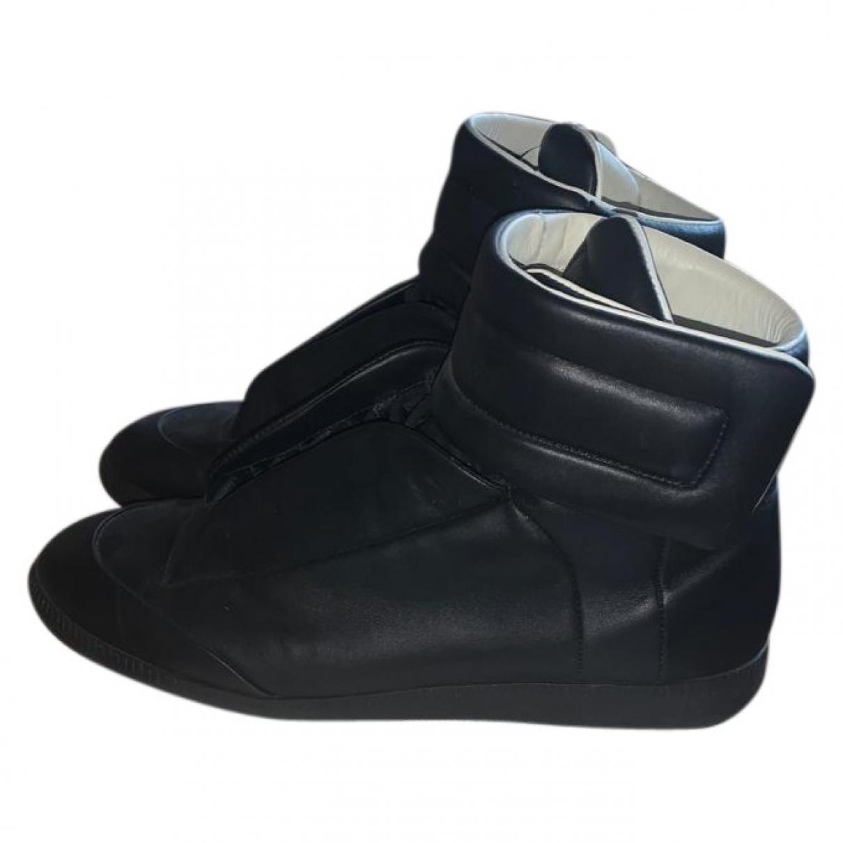 Maison Martin Margiela - Baskets   pour homme en cuir - noir
