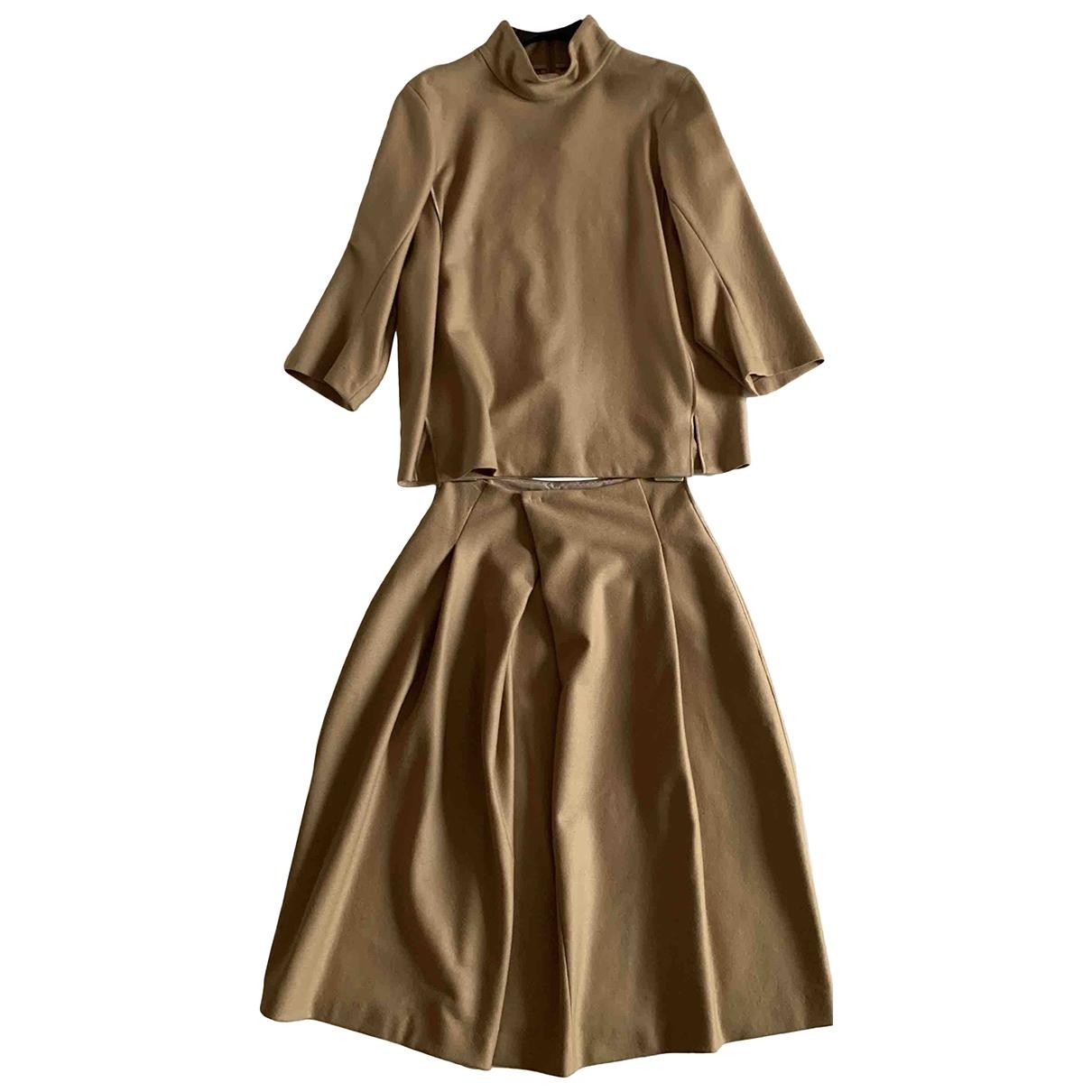 Jil Sander \N Beige Wool skirt for Women 36 FR
