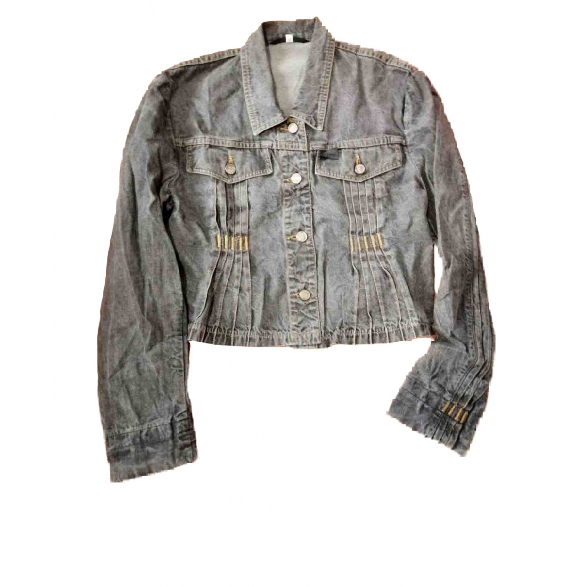Non Signé / Unsigned \N Grey Denim - Jeans jacket for Women 42 IT