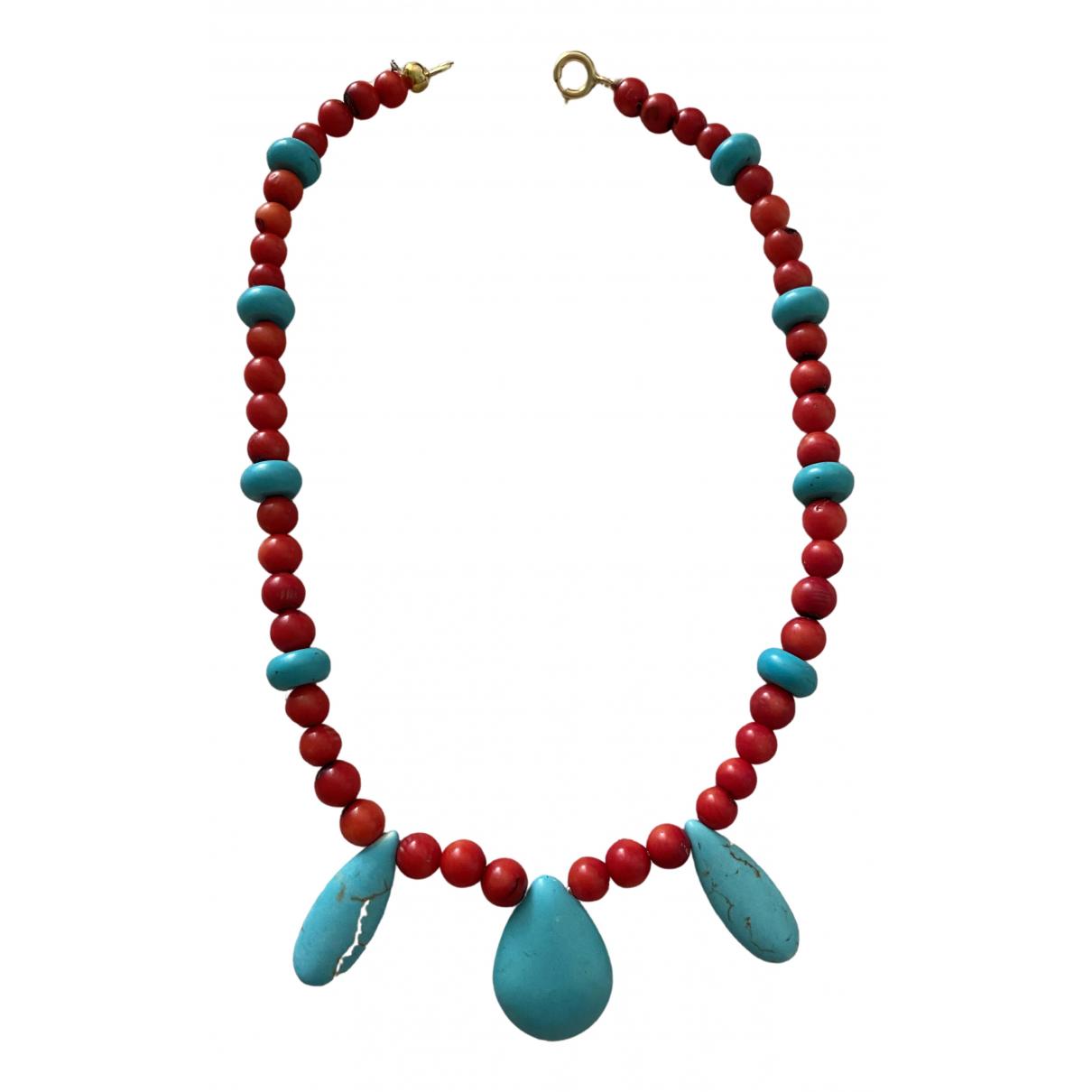 - Collier Corail pour femme en perles - multicolore