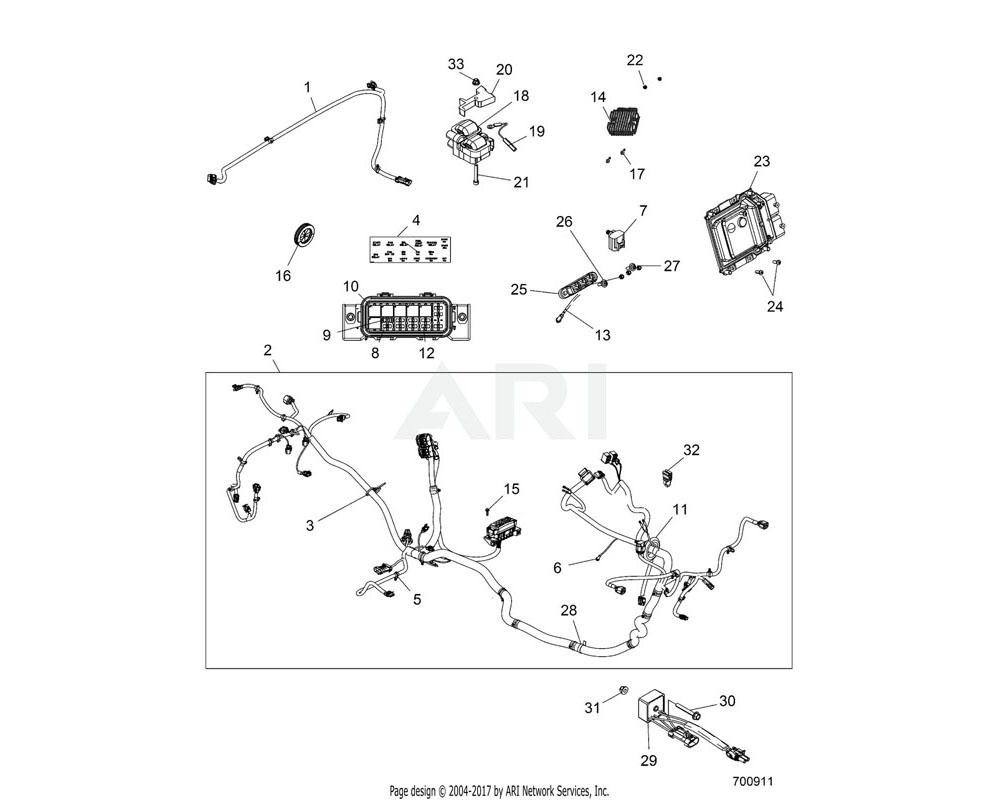 Polaris OEM 2413316 HARNESS, CHASSIS, EPS, EU | [INCL. 3-5, 7-13, 36-37][FR][JR]