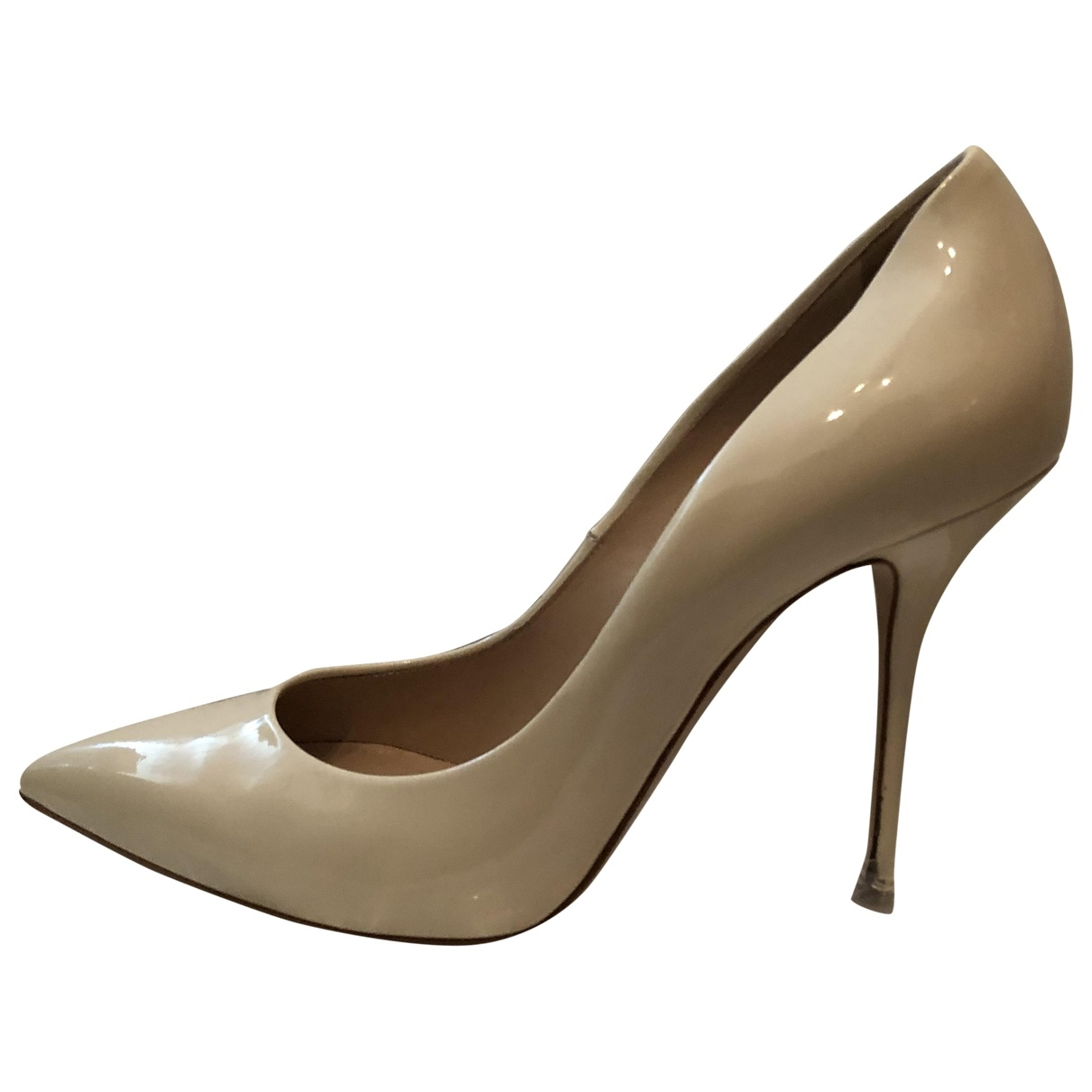 Casadei \N Beige Patent leather Heels for Women 38 EU