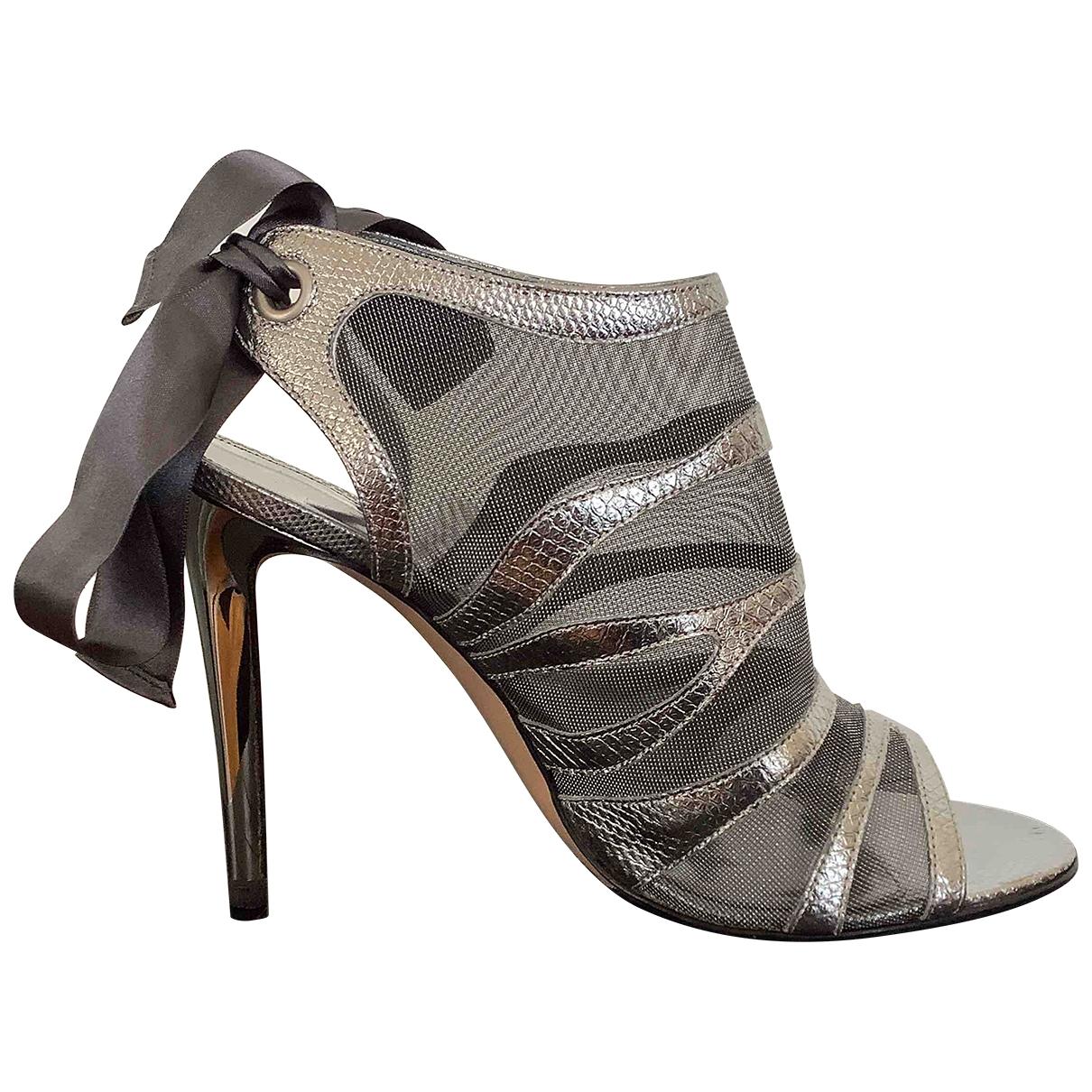Gianvito Rossi - Boots   pour femme en cuir - argente