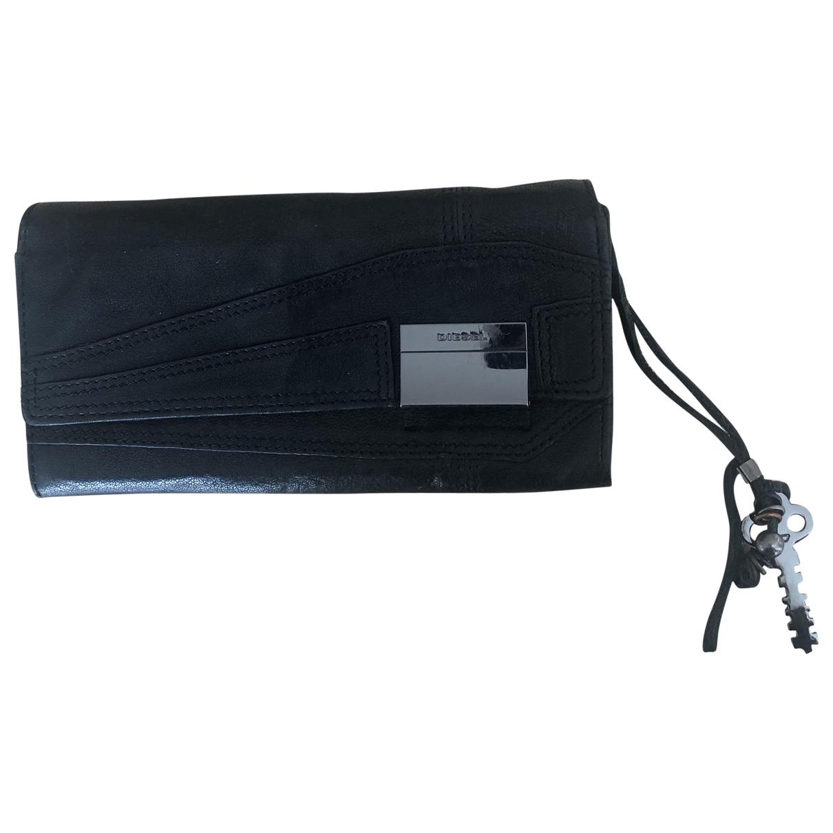 Diesel \N Black Leather wallet for Women \N