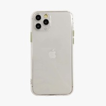 1pc Contrast Button Clear iPhone Case