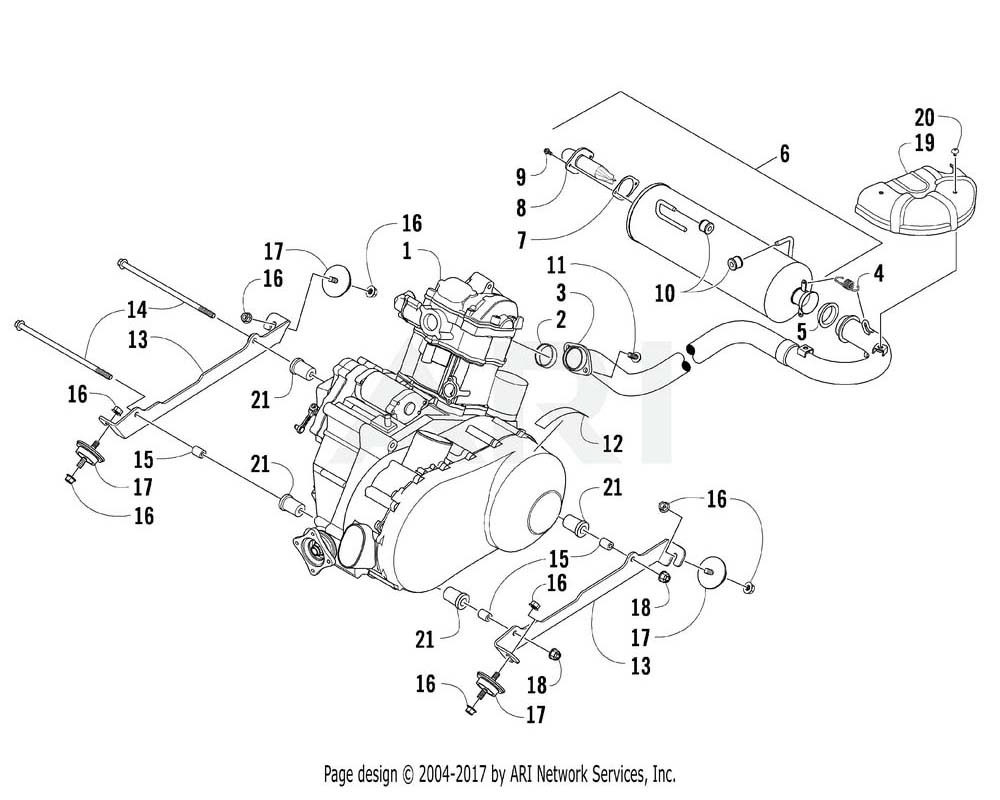 Arctic Cat OEM 0437-086 Engine