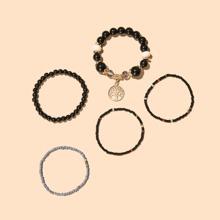 5 Stuecke Armband mit rundem Dekor