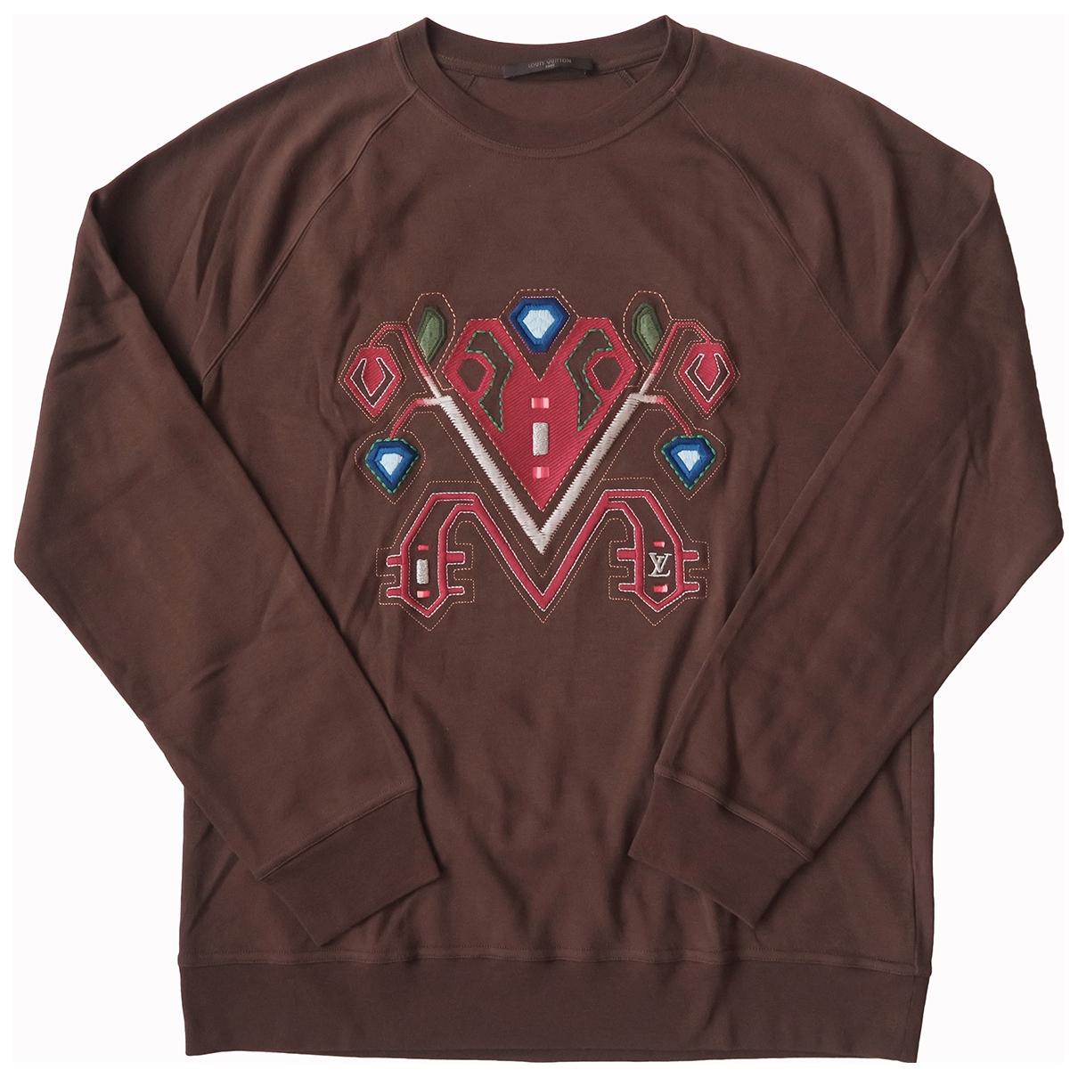 Louis Vuitton \N Pullover.Westen.Sweatshirts  in  Braun Baumwolle