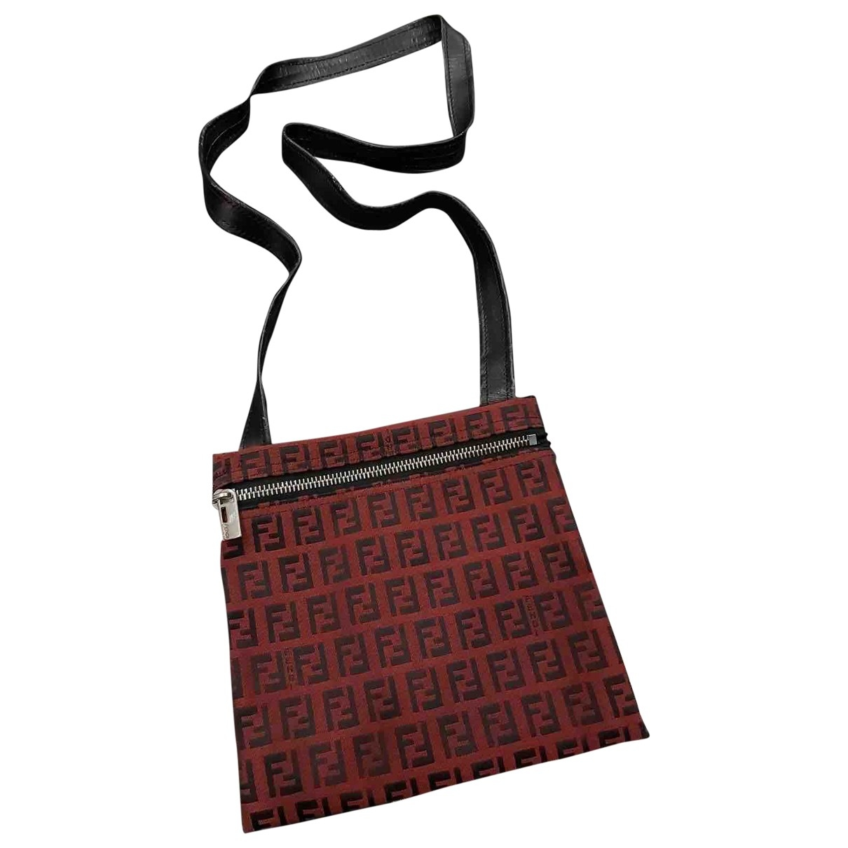 Fendi \N Burgundy Cloth Clutch bag for Women \N