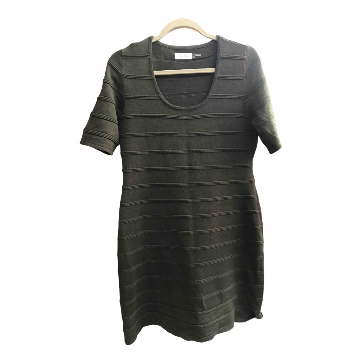 Calvin Klein - Robe   pour femme en coton - vert