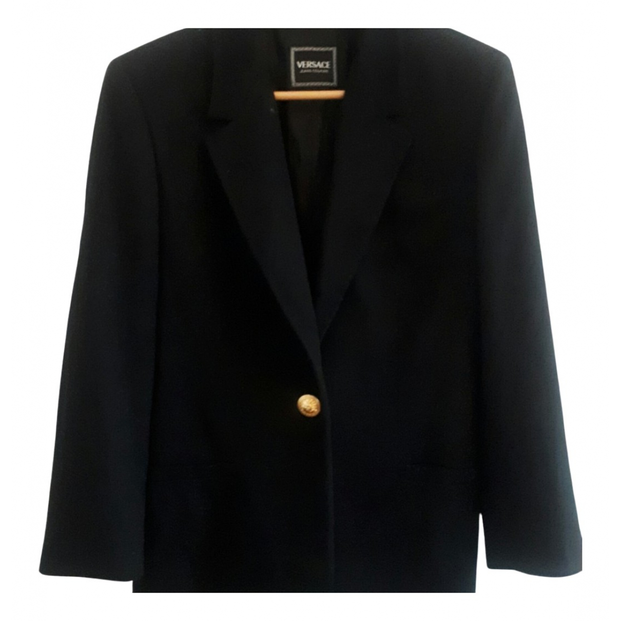 Versace Jean - Veste   pour femme en laine - noir