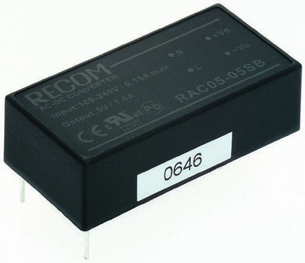 Recom , 5W Embedded Switch Mode Power Supply SMPS, 5V dc, Encapsulated