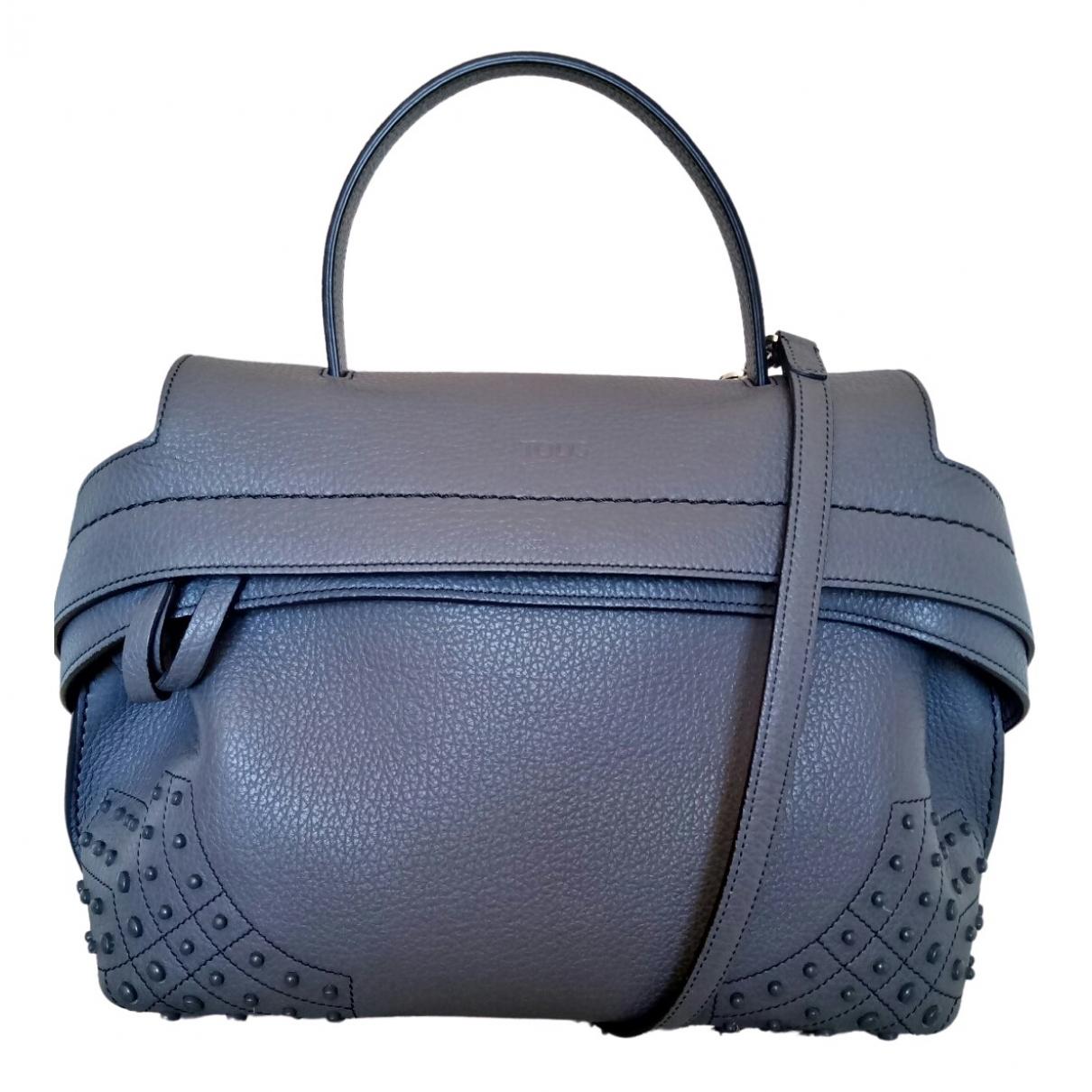 Tod's Wave Grey Leather handbag for Women \N