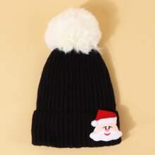 Maedchen Muetze mit Weihnachtsmann Dekor
