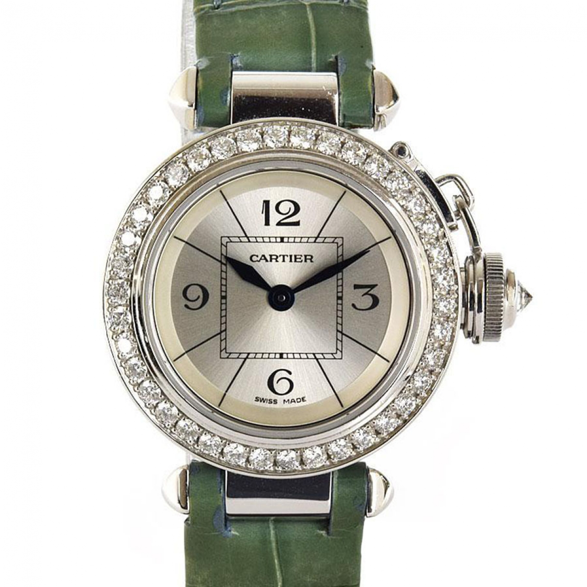 Cartier Pasha Silver White gold watch for Women \N