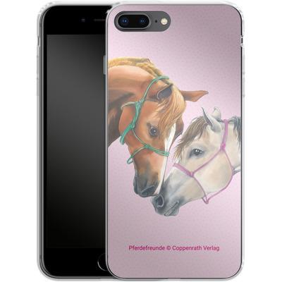 Apple iPhone 8 Plus Silikon Handyhuelle - Pferdefreunde Freundschaft von Pferdefreunde