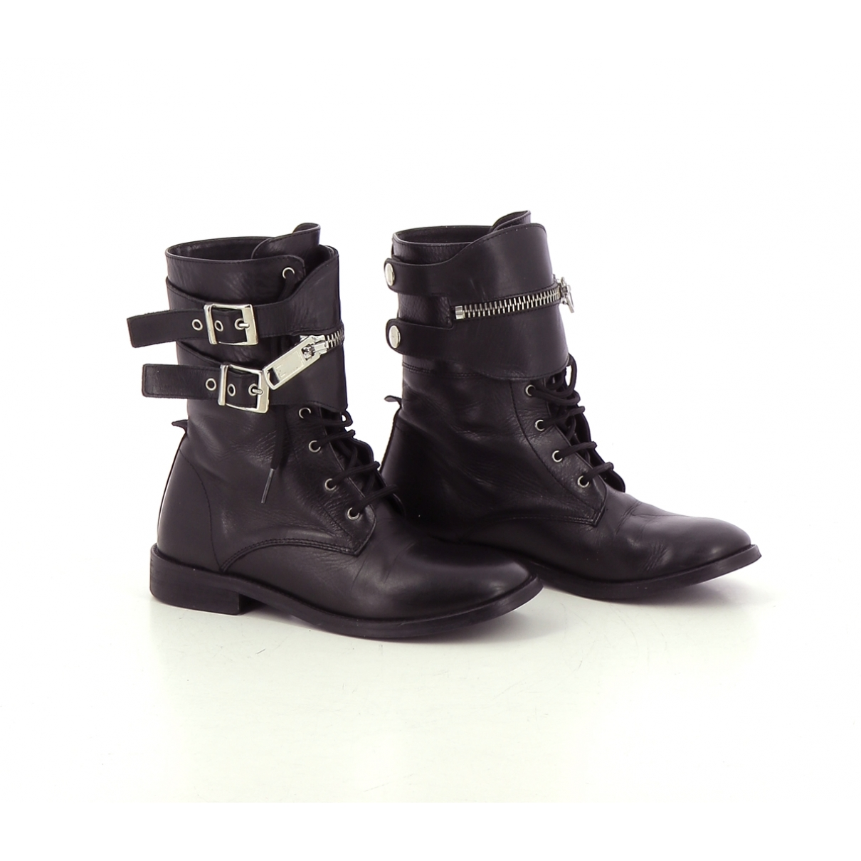 Liu.jo \N Black Leather Boots for Women 36 EU