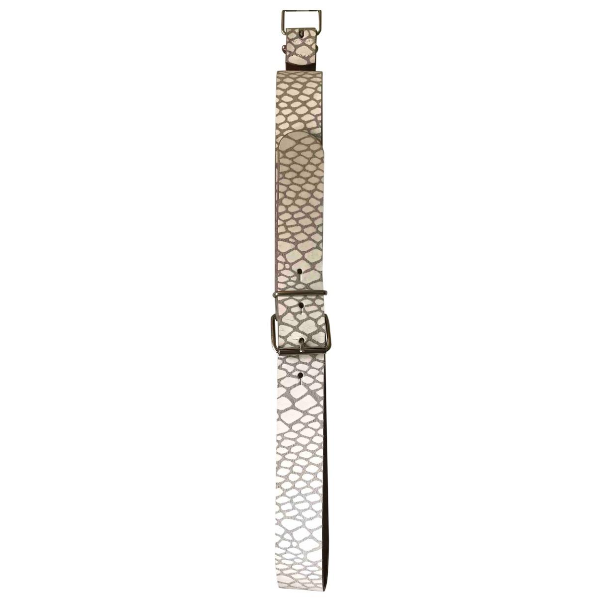 Maison Martin Margiela \N White Leather belt for Women M International
