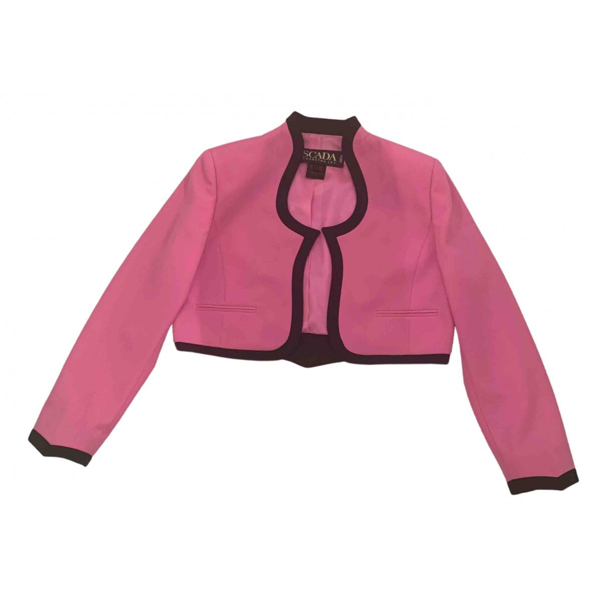 Escada N Pink Wool jacket for Women 44 IT